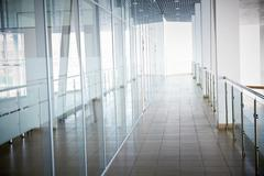Image of office corridor inside building Stock Photos