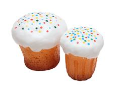 Orthodox easter - two kulich Stock Photos