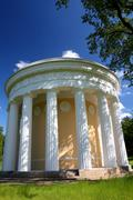 Pavilion of friendship in pavlovsk park Stock Photos