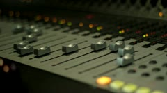 MIXING BOARD1 Stock Footage