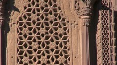 Ornate palace wall in Jodphur Meherangarh fort , India Stock Footage