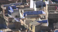 Blue city Jodphur in Rajasthan, India Stock Footage