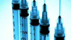Close up of a medical syringe Stock Footage