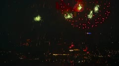 Festive fireworks. Stock Footage