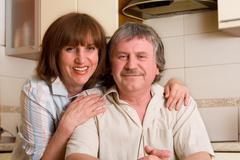Happiness mature couple Stock Photos