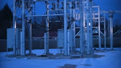 Power Transfer Station Stock Footage