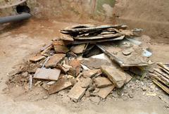 Heap of built debris Stock Photos