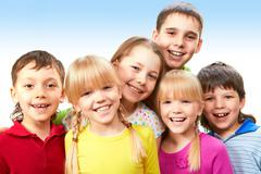 Group of adorable boys and girls together Stock Photos