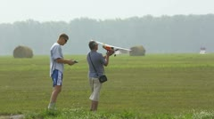 Radio-controlled aircraft. Stock Footage