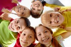 Image of happy kids representing youth and fun Stock Photos