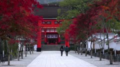 Path To Gate At Fushimi Inari Stock Footage