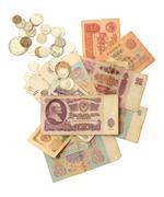 old soviet russian money - stock photo