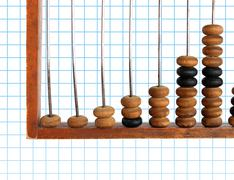 Increase diagram on old abacus Stock Photos
