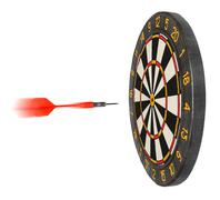 Dartboard with dart flying in aim Stock Photos