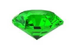 dark-green gemstone isolated on white - stock illustration