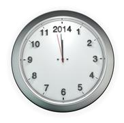 Almost 2014 o'clock Stock Illustration