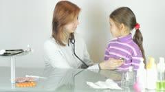 Practicing pediatrician Stock Footage