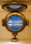 Nautical porthole Stock Photos