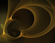 Abstract black and yellow fractal image Stock Photos