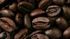 Close up of medium roasted coffee beans Stock Footage