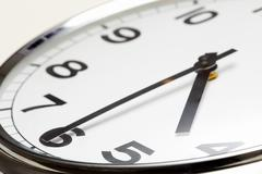 photo of clock showing half past four - stock photo