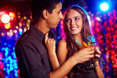 Image of happy couple in the night club Stock Photos
