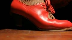 Woman dancing Flamenco shoes Stock Footage