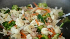 Vegetable Stir Fry Stock Footage