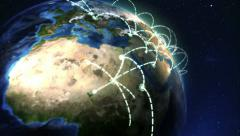 Realistic Growing Global Network Stock Footage
