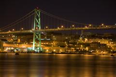 angus l. macdonald bridge, halifax - stock photo