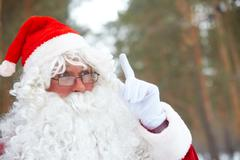 Portrait of santa claus outdoors Stock Photos