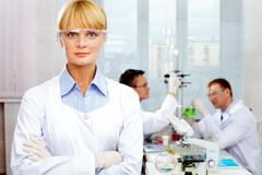 confident scientist - stock photo