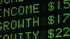stocks, bonds, trading board - stock footage