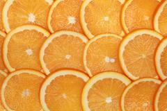 fresh orange slices - stock photo