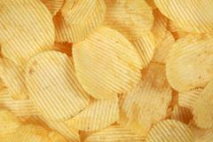 Rippled chips Stock Photos