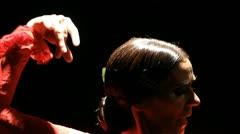 Female dance Flamenco  Stock Footage