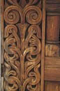 Stave church carvings/decorations - stock photo
