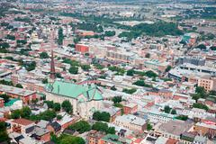 Elevated view of quebec city, canada Stock Photos