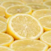 group of sliced lemons - stock photo