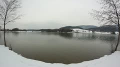 Slovenia landscape [Velenje Lake]  Stock Footage