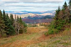 fall season on top of mont-tremblant, quebec, canada - stock photo