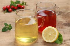 Red and yellow tea Stock Photos