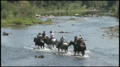 Stock Video Footage of Cowboys Crossing COLORADO RIVER