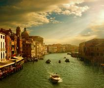 Canals and the fabulous old venice Stock Photos