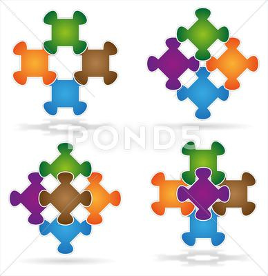 Stock Illustration of puzzle we stick together