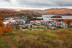 Fall colors in mont-tremblant, quebec, canada Stock Photos