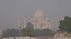 smog and mist in Agra city, India - stock footage