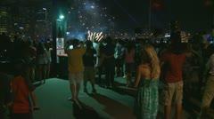 Australia Day fireworks (2) Stock Footage