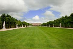 versailles landscape, france, without people - stock photo