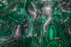 Mineral - Malachite - green gem stone macro Stock Photos